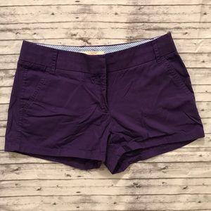 *NWOT* JCrew Chino Shorts Purple Sz 4